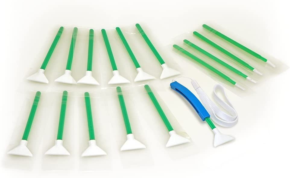 Sensor Cleaning swabs Vswabs MXD-100 Green 1.3X 20 mm 12 per Pack with Bonus CurVswab and Corner Swabs
