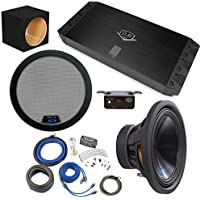 Alpine Bass Package - Type-S 12 Subwoofer w/ box, DUB 450 watt amp, Bass Knob, Wiring Kit, and Grille