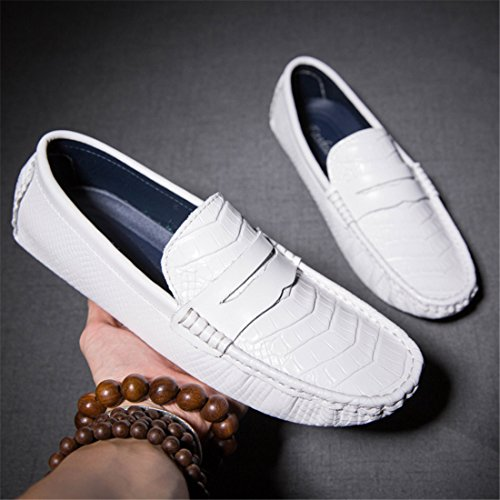 Mens Cowskin Slip On Boat Shoes Classic Loafer Driving Moccasins Shoes WDE8699 Black YbtFm