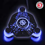 ENHANCE Mouse Bungee Cord Holder with Blue LED Lighting and Active USB Hub - Boost Accuracy By Eliminating Cable Drag - for Dota 2 , League of Legends , World of Warcraft: Legion , Battlefield 1