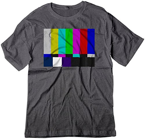 [BSW Men's No Channel Color Bars Vintage Big Bang Theory Shirt SM Dark Heather] (Smpte Color Bars)
