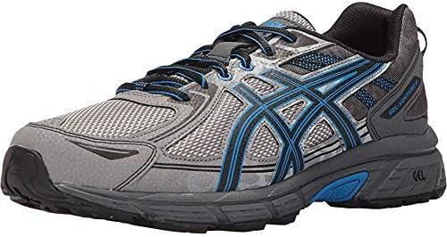 ASICS Mens Gel-Venture 6 Running Shoe, Aluminum/Black/Directoire ...