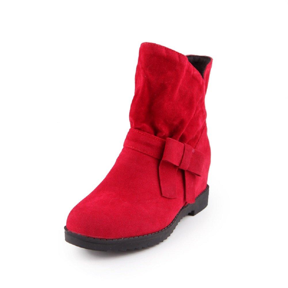 YORWOR - Botas plisadas mujer , color rojo, talla 38: Amazon.es: Zapatos y complementos