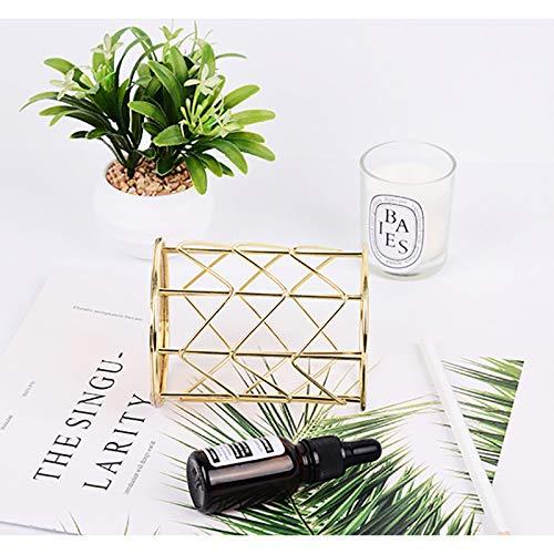10*8cm DaoRier Multifonctionnel en Fer forg/é Porte Stylo Fournitures de Bureau Tube de Brosse de Maquillage Brosse de Maquillage Pot Pen Container dor/é