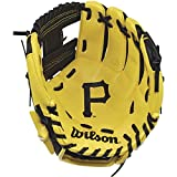 "Wilson A200 10"" Pittsburgh Pirates Glove Right Hand Throw, Black/Yellow"