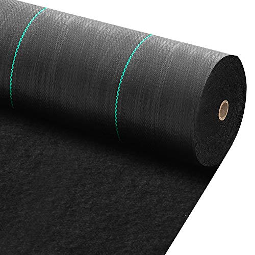 Amagabeli 3ft x 100ft Weed Barrier Landscape Fabric 5.8oz Heavy Duty Ground Cover Weed Cloth Geotextile Fabric Durable Driveway Cover Garden Lawn Fabric Outdoor Weed Mat (Garden Weed Mat)