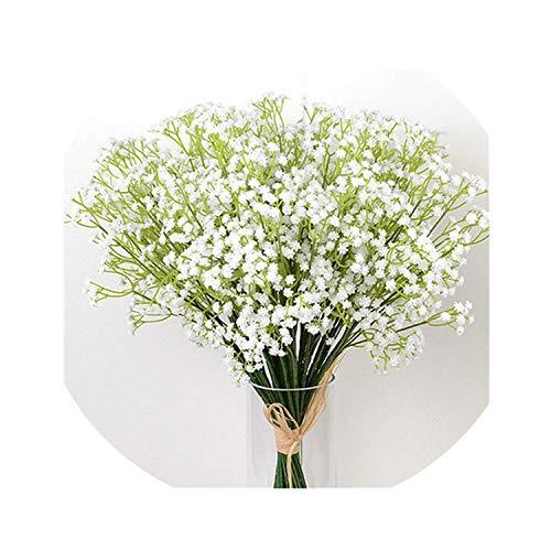 winkstores 40cm Artificial Flower White Gypsophila Bouquet Baby's Breath Fake Flowers Wedding Party Home Decoration