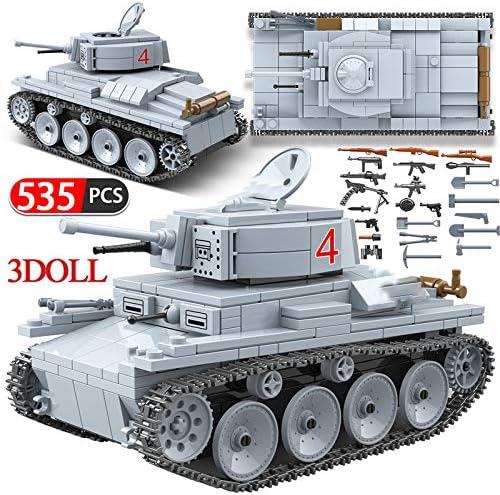 CBPP535 個 Technik LT-38 軽戦車ビルディングブロック互換軍事陸軍市兵士警察フィギュア武器レンガ男の子のおもちゃおもちゃの車のる