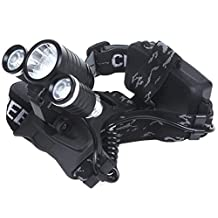 Heng Heng - Camping 3000Lm 1*CREE T6 & 2*CREE R2 LED Rechargeable Headlamp Headlight + AC Charger in Night Walking or Cycling - HNG-BG-SPT-000263