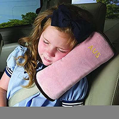 Car Belt Pillow,Beyoung (TM) Children Baby Safety Strap Plush Soft Cushion Headrest Neck Support Pillow Shoulder Cover Pad for Car Safety Seatbelt (Gray) (Grey)