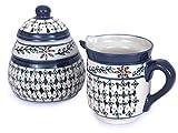 NOVICA Hand Blown Multicolor Floral Ceramic Creamer and Sugar Bowl Set, 5 oz., 4 oz. 'Sierra Wonders'