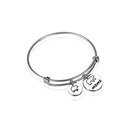 7c0f40d19 Amazon.com: Anlive Mama Bear Bracelet with 1 2 3 Cubs Adjustable Bangle  Bracelet Mom Gifts (1 cub): Jewelry