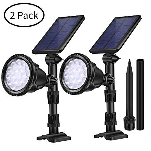 AILATAN 18 LED Outdoor Solar Pathway Lights, 4 Modes Adjustable Montion Sensor Spotlight,Security Wall Light Auto On/Off for Yard Garden Driveway Pathway Pool