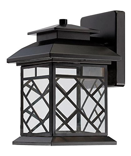 Oil Rubbed Bronze Woodmere 1 Light Outdoor LED Wall Sconce by Designers Fountain
