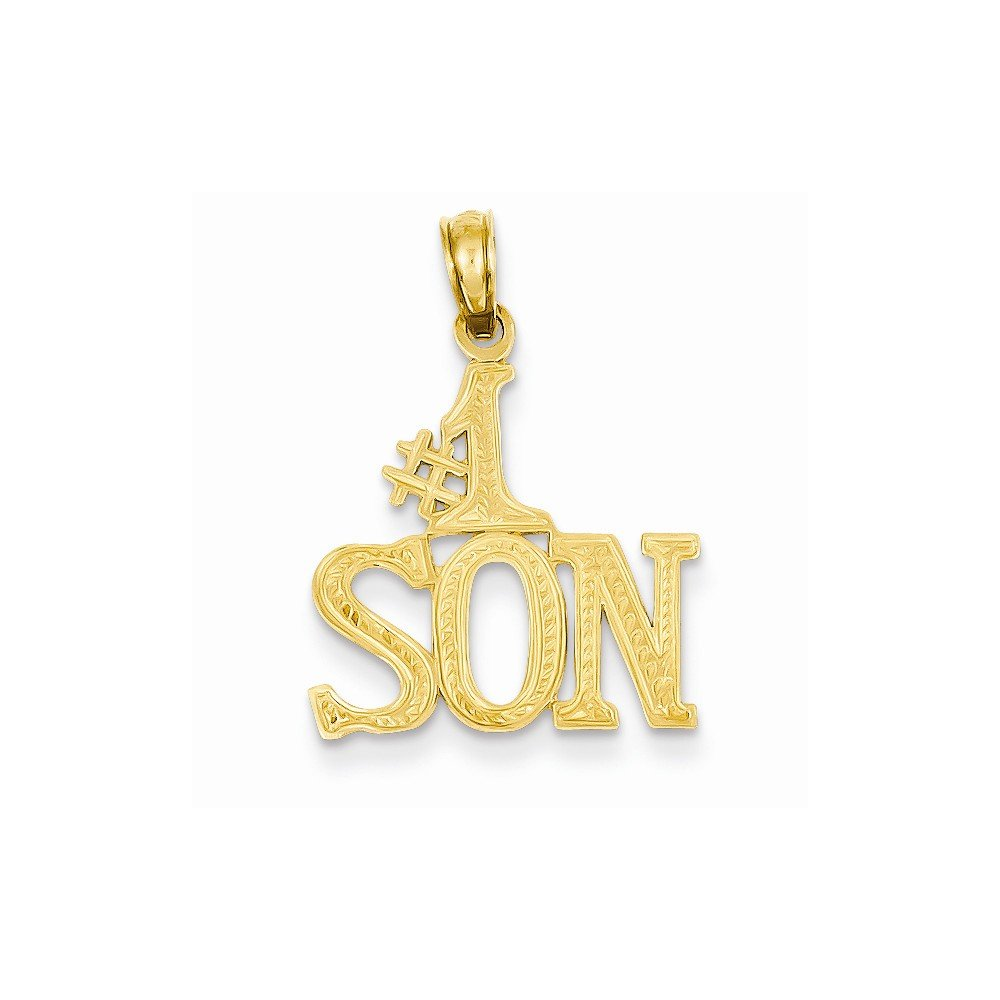 Best Quality Free Gift Box 14k #1 Son Pendant