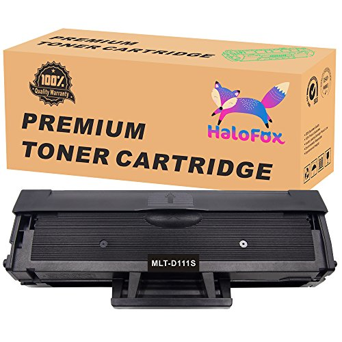 HaloFox 1 Black Toner Replacement For Samsung 111S 111L MLT-D111S MLT-D111L Compatible For Xpress SL-M2020W Xpress SL-M2070W Xpress SL-M2070FW Xpress SL-M2070 SL-M2020 SL-M2022W Printer,1000 Pages