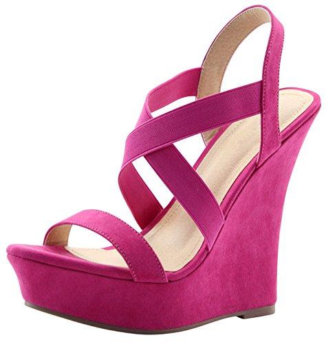 Pink Wedges Platforms - 7