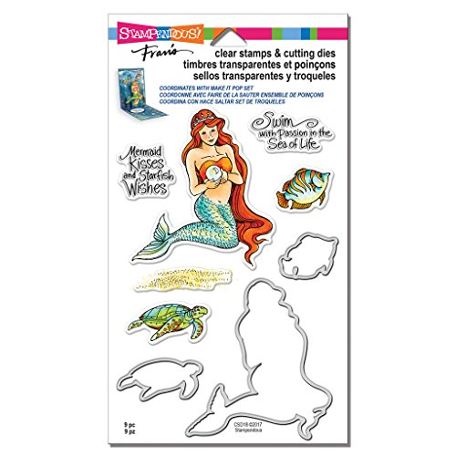 Stampendous Clear Stamps & Cutting Dies, Mermaid & Friends