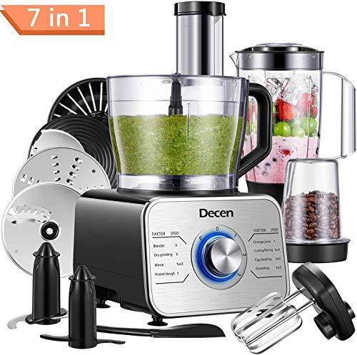 🥇 Decen Procesador de Alimentos/ Robot de Cocinay con 8 Accesorios