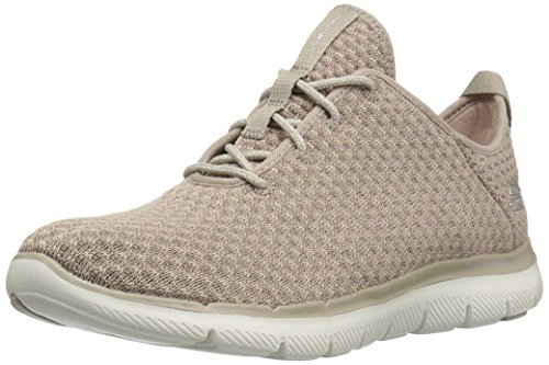 Skechers Sport Women's Flex Appeal 2.0 Bold Move Fashion Sneaker,Taupe,9 M US