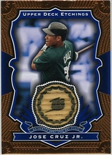 2004 Upper Deck Etchings Game Bat Blue #JC Jose Cruz Jr NM-MT GU Devil Rays
