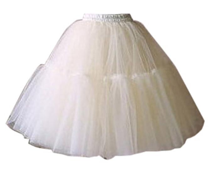Tutú corto de 5 capas hasta la rodilla, para fiesta blanco blanco Talla única: Amazon.es: Ropa y accesorios