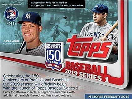 Amazoncom 2019 Topps Series 1 Baseball Blaster Box 8