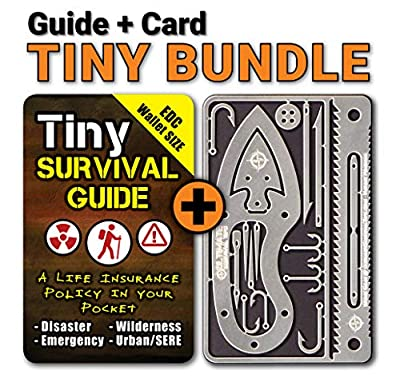 """Tiny Survival Guide: A Life Insurance Policy in Your Pocket - The Ultimate """"Survive Anything"""" Everyday Carry: Emergency, Disaster Preparedness Micro-Guide by ULTIMATE SURVIVAL TIPS BE PREARED-BECAUSE YOU NEVER KNOW"""