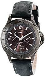 Timex Men's T2P178KW Ameritus Retrograde Gray Leather Strap Watch
