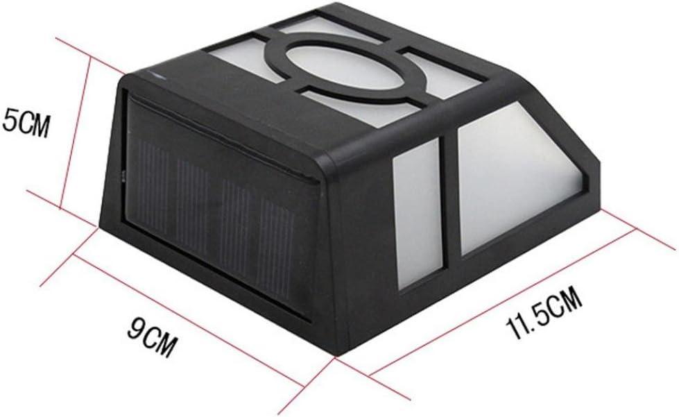 Blanc froid Applique Murale Solaire,Sensail 2LED Lampe Solaire Ext/érieur /étanche IP44 Pour Chemin