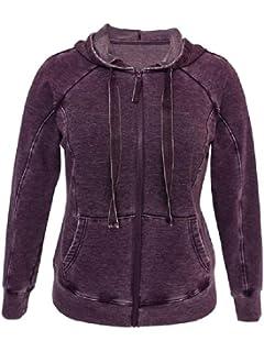 New Womens Green Tea Velour Hoodie Sweatshirt Hood Black Pull Over Medium Large