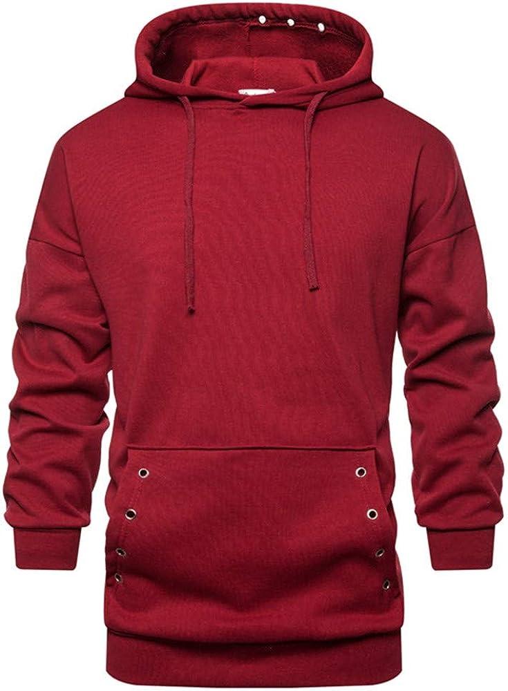 YEZIJIANG Men's Hoodie Sport Basic Plain Sweatshirt Casual