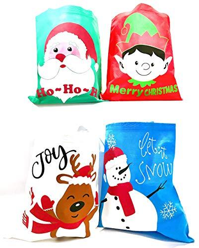 Bulk 24 Christmas Reusable Non-Woven Tote Gift or Shopping Bag