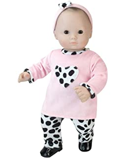 860d2fad2 Sophia's 15 inch doll Clothing 3 Pc. Set of Pink and Dalmatian Print Fits 15