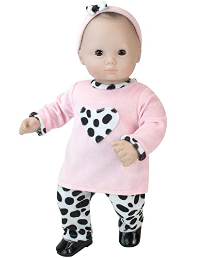 Buy 15 Doll Clothing Outfit 3 Pc Set Dalmatian Print Pants Pink