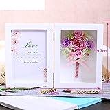European live roses picture frame Eternal flower gift box Birthday gift-F