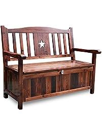 Songsen Outdoor Patio Storage Garden Bench Deck Box Indoor Shoe Cabinet  Chair (Brown)