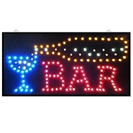 NUEVO Vino Cóctel Bar Pub Club Ventana Escaparate luz CARTEL ...