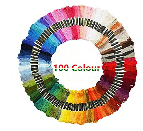 Cross Stitch Threads Embroidery Thread Floss, LZMU Multi-Color Embroidery Floss Crafts Floss Sewing Threads Friendship Bracelet ()