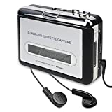 DIGITNOW Cassette Player-Cassette Tape to MP3 CD Converter Via USB,Portable Cassette Tape Converter Captures MP3 Audio Music,Convert Walkman Tape Cassette to MP3 Format, Compatible Laptop PC