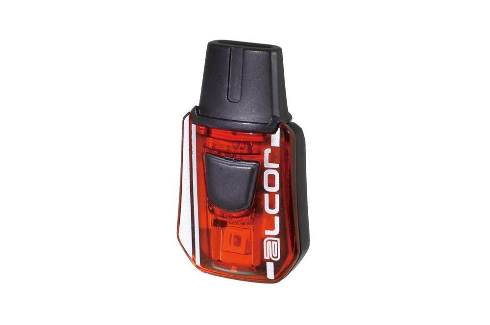 Moon Sports Alcor Battery Flashing Light, Black/Red