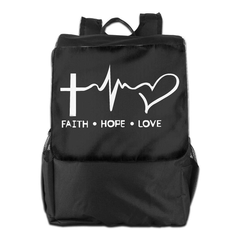 Louise Morrison Faith Hope Love Christian Faith Bible Women Men Laptop Travel Backpack College School Bookbag