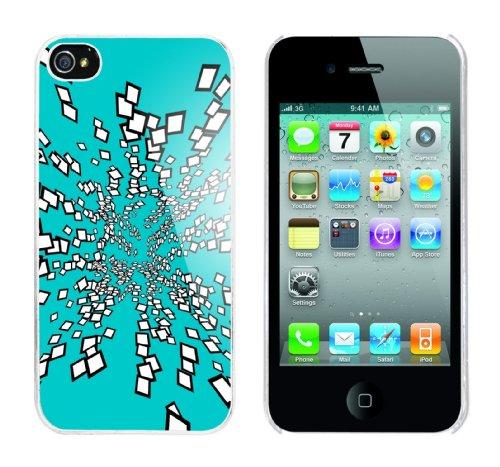 Iphone 4 Case Oceanic 3D Rahmen weiss