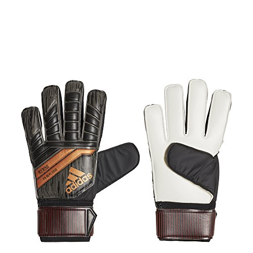 Adidas Gloves Athletic (adidas Performance ACE Fingersave Replique Gloves, Black, Size 10)