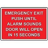 Amazon.com: ComplianceSigns Alarma de salida de emergencia ...