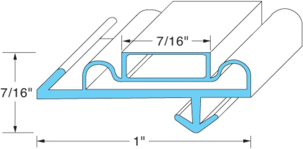"Anthony 02-10090 Series Magnetic Frame Gaskets for Freezers/Coolers/Refrigerators (Gasket Dimension: 21-3/4"" x 64"")"