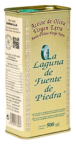 La Laguna de Fuente de Piedra | Extra Virgin Olive Oil | New Harvest 2018/19 | 16.9 fl oz | Single Origin | Small Batch | First Cold Press | Unblended | Family Estate | 100% Gordalilla Olive | Spanish