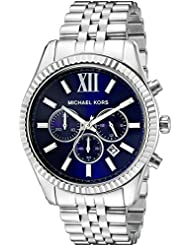 Michael Kors Mens Lexington Silver-Tone Watch MK8280