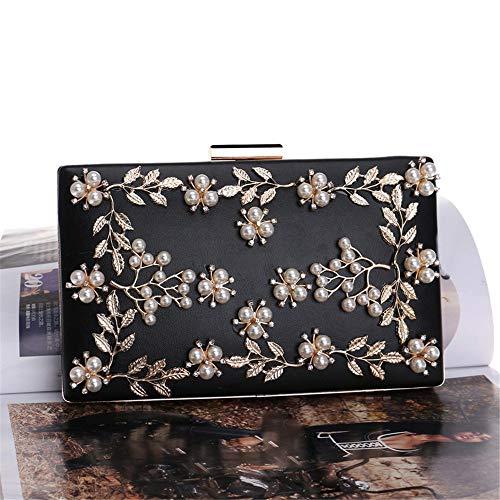 Soirée Main De Élégante Sac Noir Sandy Shoulder Womens Floral À couleur Rose Perles Cowper Robe w8CIBq