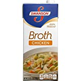 Swanson Chicken Broth, 32 Ounce Cartons (Pack of 12) by Swanson